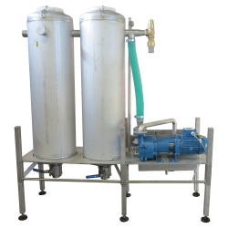 A Vacuum Offal System is a dry offal transport method, meant to conserve water in poultry processing plants. It also enables to operation of certain evisceration machines which require vacuum, such as vent cutters and final inspection machines.